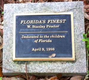 """Florida's Finest"" Sculpture in the front garden of the Mansion. Sculpture by W. Stanley Proctor."